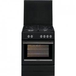 BRANDT BCG6640A Cuisiniere table gaz - 4 foyers - Four électrique - Catalyse - 53L - A - L 60 x H 85 cm - Inox