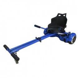 TAAGWAY Kit Kart A3 Siege rigide pour Gyropode 6,5`, 8` et 10` - Bleu - Barre centrale double - Charge Max : 120kg
