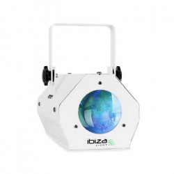 IBIZA LIGHT LCM003LED-WH Effet de lumiere Moon Flower a LED RGBAW - Blanc