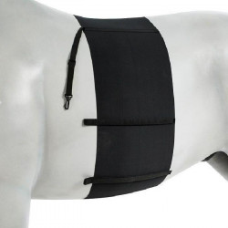 HORZE Sangle élastique sous-ventriere pour chevaux - Lycra de polyester - Taille full - Noir
