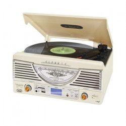 TREVI TT-1062E Platine Vinyle - 33 et 45 tours - Blanc