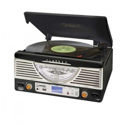 TREVI TT-1062E Platine Vinyle - 33 et 45 tours - Noir