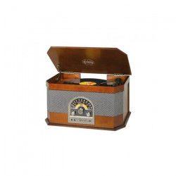 TREVI TT-1040 Platine Vinyle BT en bois - 33, 45 et 78 tours