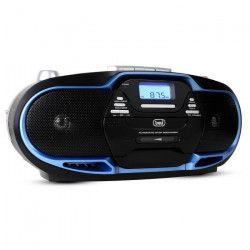 TREVI 0057402 Radio CD Cassette - USB - Noir et bleu