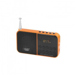 TREVI 0DR74009 Radio Portable FM SCAN - Carte SD - Orange