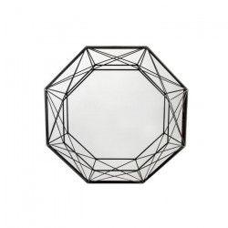 Miroir mural métal - 55,5 x 55,5 x 7 cm