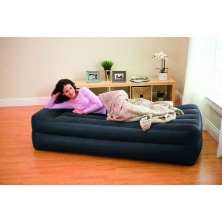 intex lit gonflable 1 place rest bed gonfleur. Black Bedroom Furniture Sets. Home Design Ideas