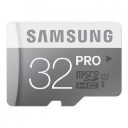 SAMSUNG Carte mémoire micro SD Pro - 32 Go - avec adaptateur SD - Classe 10