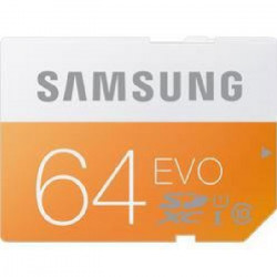 SAMSUNG Carte mémoire flash EVO MB-SP64D - 64 Go SDXC UHS-I