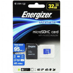 ENERGIZER Ultimate Carte MicroSDHC 32Go Class10