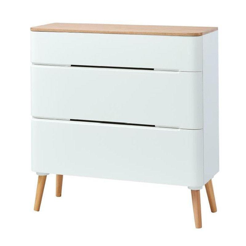 lya commode de chambre scandinave laqu blanc mat. Black Bedroom Furniture Sets. Home Design Ideas