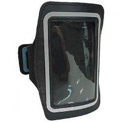 WE Pack brassard et écouteurs pour iPhone4 de sport pour iPhone 4 Micro intégré et contrôle du volume - Noir