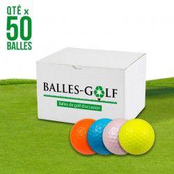 MIX Lot de 50 Balles de Golf Couleur Mix