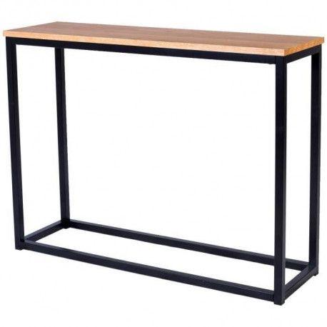 leon console style industriel en m tal poxy noir. Black Bedroom Furniture Sets. Home Design Ideas