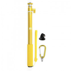 XSories - BIG U-SHOT avec Tripod Mount - Perche 29 a 94 cm pour GoPro, appareil photo ou camera, inoxydable - Jaune