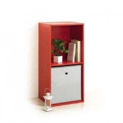 MODUL`HOME Module 2 cubes de rangement - 36,5 x 29,5 x H 77,5cm - Rouge