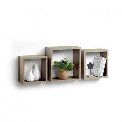 Lot de 3 cubes gigognes 23-26,5-30 cm gris cérusé