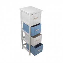 JERSEY Meuble de salle de bain 25 cm - Blanc et bleu
