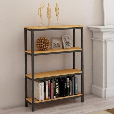 LEON Etagere meuble style industriel en métal époxy
