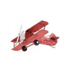 PIOUPIOU ET MERVEILLES Avion Le Petit Prince Métal 16 cm