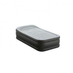 DELUXE REST BED Lit d'appoint 90x190 cm - Gonflable - Gris - 1 personne