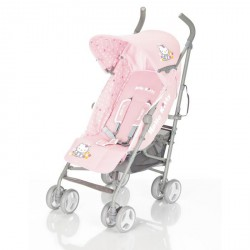 HELLO KITTY Poussette canne CHAMPION fleur rose