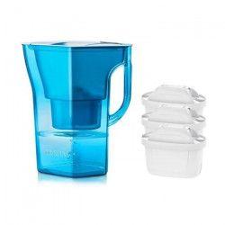 Pack BRITA Carafe filtrante NAVELIA Bleu + 3 Cartouches de rechange