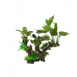 AQUA DELLA Décoration florale pour aquarium - 33,5 x 16 x 29,5cm - XL