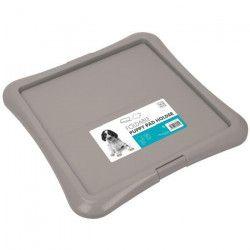 M-PETS Support pliable Foldable Puppy Pad Holder - 62,5x62,5x3cm - Gris - Pour chiot