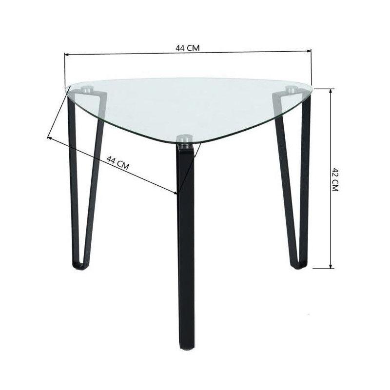 Kauwhata table basse style contemporain en m tal peint - Table basse en verre trempe ...
