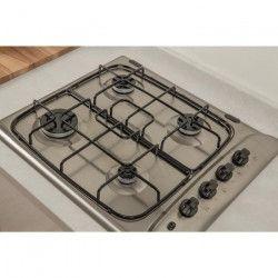 INDESIT PIM 640 AS IX - Table de cuisson gaz - 4 foyers - L 58 x P 51 cm - Revetement Inox