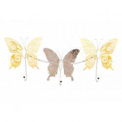 Porte manteau mural papillon - métal 73x30x6 cm