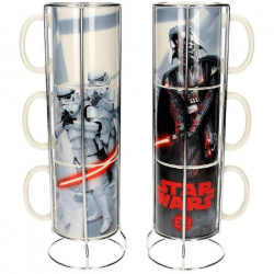STAR WARS 3 Mugs empilables en céramique