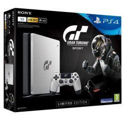 Nouvelle PS4 Silver 1To Edition Limitée + Gran Turismo Sport + Qui-es-tu ? (Jeu PlayLink a télécharger)