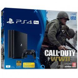 PS4 PRO 1 To + Call Of Duty : World War II + Qui es-tu? (Jeu a télécharger)