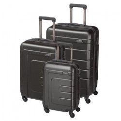 Lot de 3 valises ABS - Gris Anthracite