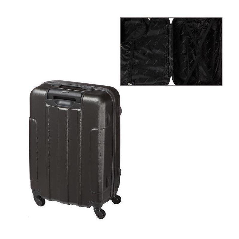 lot de 3 valises abs gris anthracite. Black Bedroom Furniture Sets. Home Design Ideas