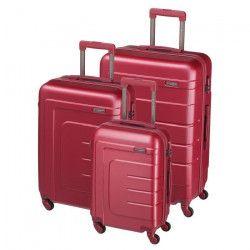 Lot de 3 valises ABS - Bordeaux