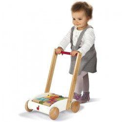 JANOD Chariot de marche en bois Mini Buggy I Wood