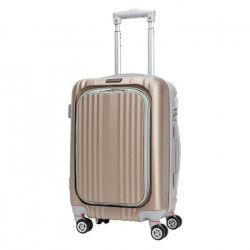 CDB Valise cabine Low Cost rigide ABS 8 Roues 48 cm Champagne