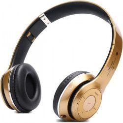PLATYNE CAS 17 Casque Bluetooth avec lecteur MP3 et micro intégré - Or