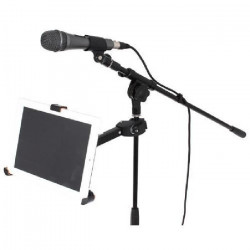IBIZA SOUND ISTAND2 Support pour iPad 1/2/3/4/air & tablettes de 8.9` a 10.4`