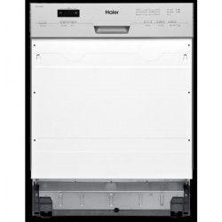 HAIER DW12-T1347BIS - Lave-Vaisselle intégrable - 12 couverts - 47dB - A++ - Silver - Larg 59,6 cm