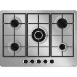 HAIER HHX-M75WE3 -Table de cuisson gaz-5 foyers-11300 W-L 68 x P 50 cm-Revetement inox