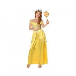 ATOSA Deguisement De Princesse Jaune Adulte T2
