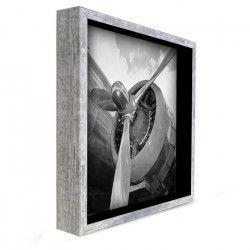 Tableau déco cadre vitrine 33x33 - Hélice d`avion