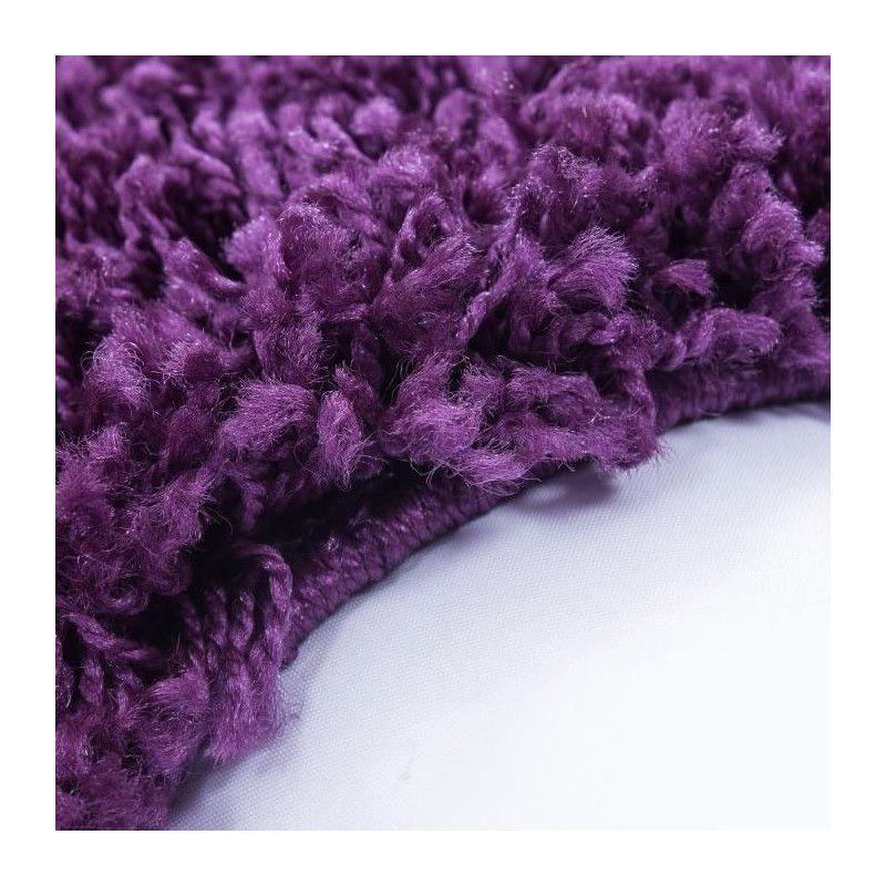 NAZAR Tapis rond Life Shaggy - Violet - 120cm de