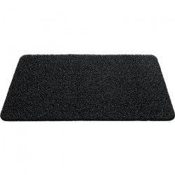 Tapis d`entrée uni - 40x60 cm - Style Classique - Coloris Noir