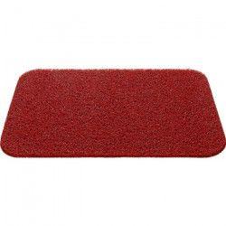 Tapis d`entrée uni - 40x60 cm - Style Classique - Coloris Rouge