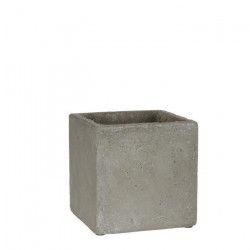 MICA Lot de 3 Cache-pots carrés Jimmy - Gris